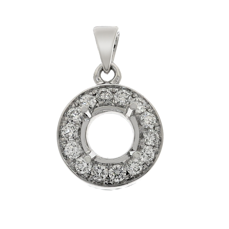 pave set round center with prongs pendant fine jewelry