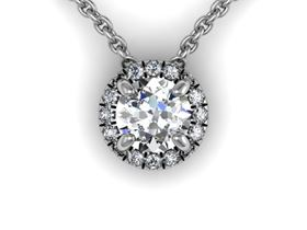 Picture of Round center Round outline pendant