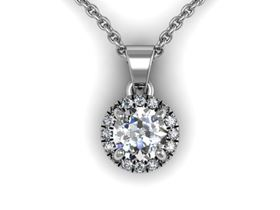 Picture of Round center round outline pendant with bail