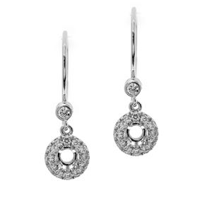 Picture of Round center earrings with one stone bail
