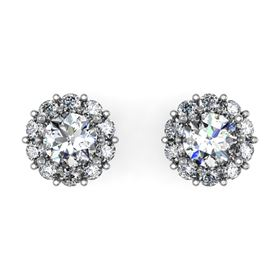 Picture of Earrings with round outline round center