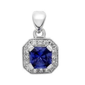 Picture of Radiant outline square center pendant with bail