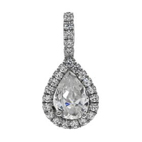 Picture of Pear outline with diamond bail pendant