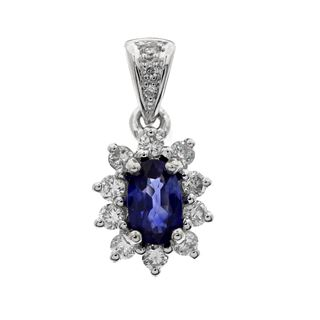 Picture of Oval center pendant with diamond bail
