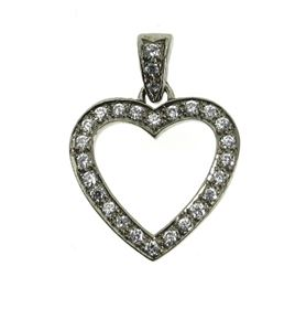 Picture of Heart shape pendant with diamond bail