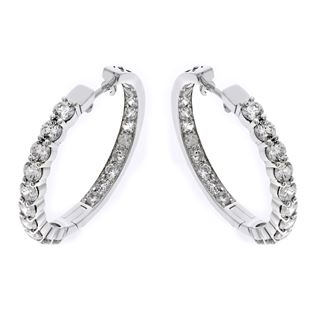 Picture of Prong set on the outside pave set on the inside hoops