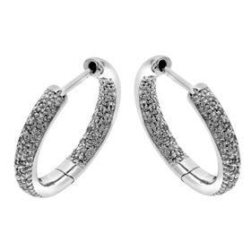 Picture of Pave set inside-outside hoops