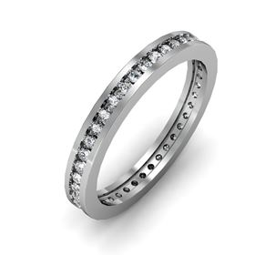 Picture of Round stones channel set eternity band