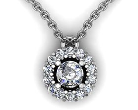 Picture of Round center round outline pendant with bail 2