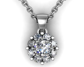 Picture of Round center round outline pendant with bail 3