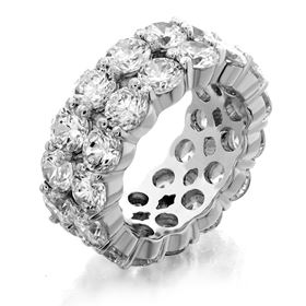 Picture of Two row shared prong eternity band