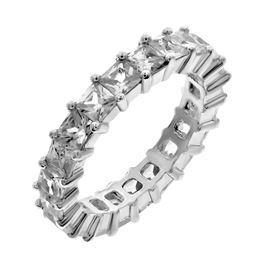 Picture of Princess cut stones shared prong eternity band