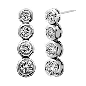 Picture of Four stone dangle earrings