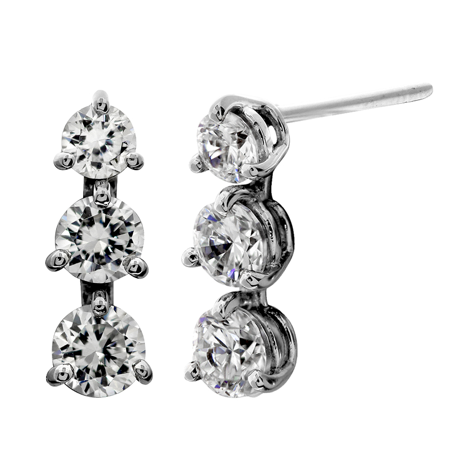 earrings dainty leaf stud cz laurel studs crystal long austrian dangle dangling