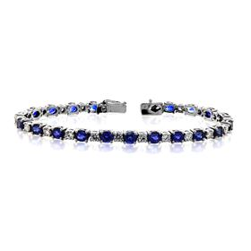 Picture of B0294 Blue sapphire bracelet