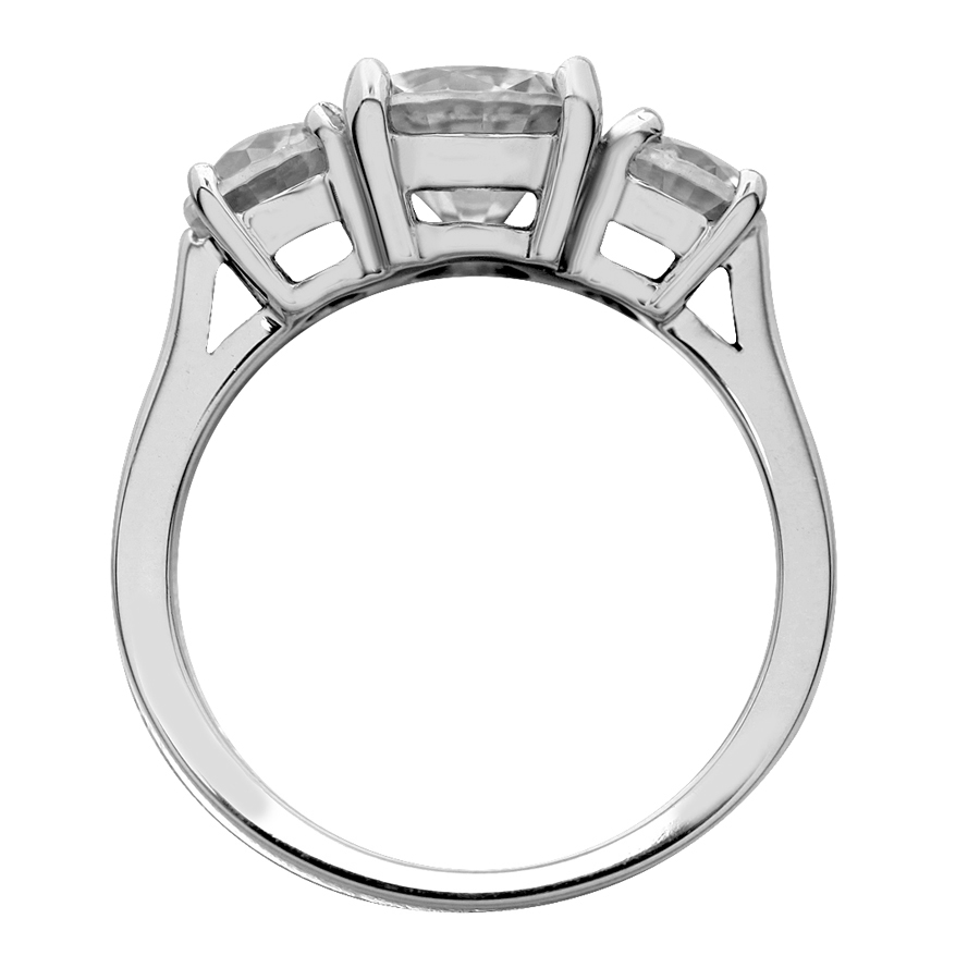 engagement designer prongs basket with fluted six band french unique cut ring rings