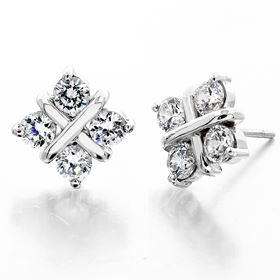 Picture of Four stone earrings