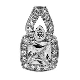 Picture of Square center pendant with filigree on the side
