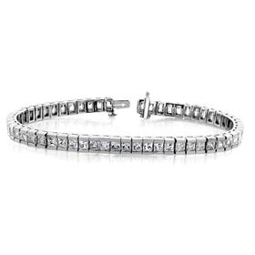 Picture of Tennis bracelet princess cut stones