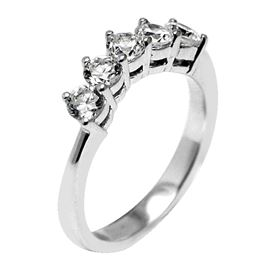 Picture of Curved band shared prong set under gallery 2