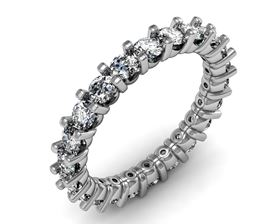 Picture of Fancy shared prong eternity band 2