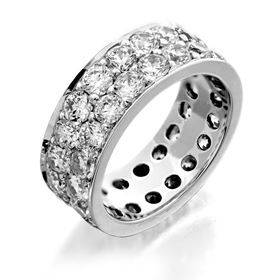 Picture of Two row pave set eternity band