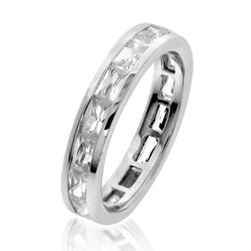 Picture of Channel set baguette cut eternity band