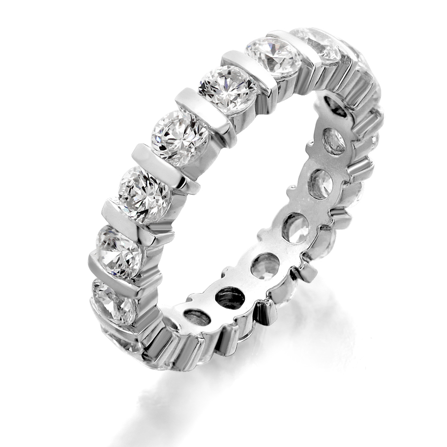 band eternity bands diamond cushion london shared set by two prong cut