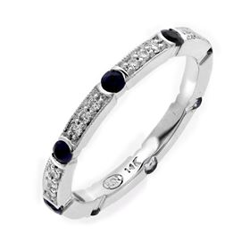 Picture of Bezel and pave set fancy eternity band