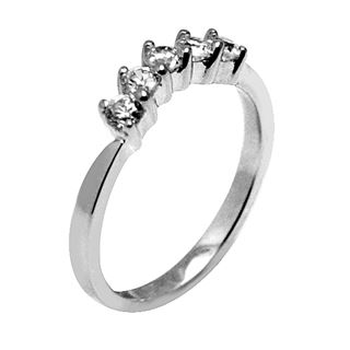 Picture of 5 stones curved band prong set