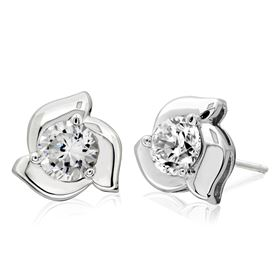 Picture of Fancy 3 prong studs for round center stone