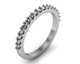 Picture of Half way shared prong set matching band