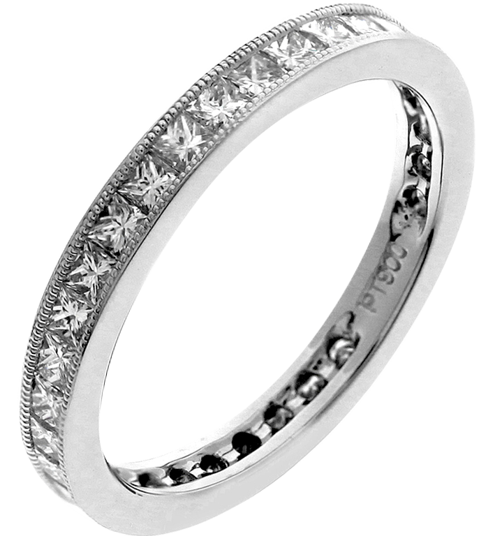 beers ring de platinum full set channel bands eternity band