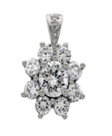 Picture of Pendant with diamond bail and round center