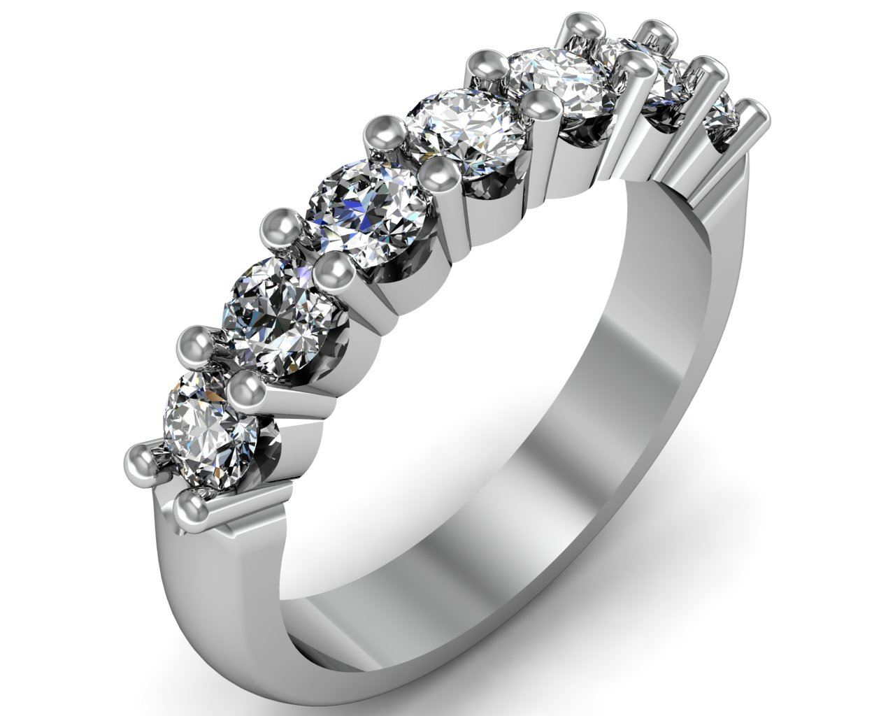 modern rings moissanite nodeform profile engagement palladium princess cut bezel ring low set wedding dsc by products