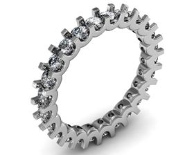 Picture of Eternity band u-shape prong set
