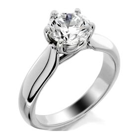 Picture of Trellis solitaire with 6 prong head
