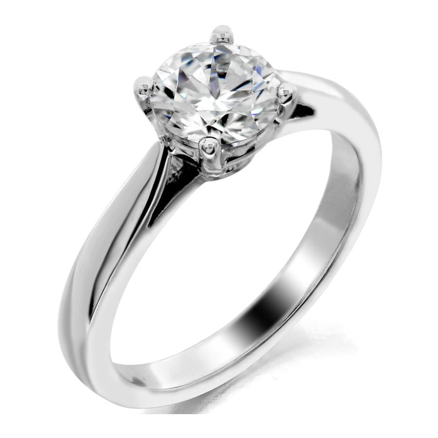 four brilliant rings flush platinum gold set prong enr a white band round ring in solitaire edge knife pave engagement