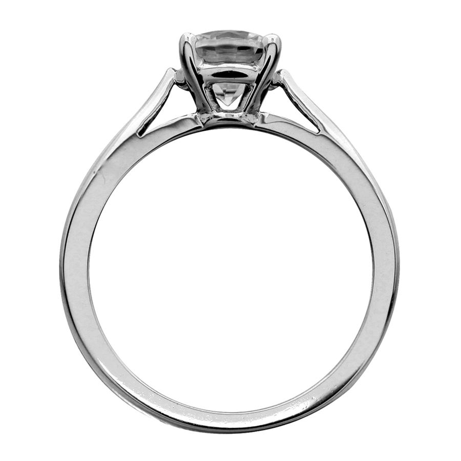 diamond rings engagement cathedral ring center a band with shown product carat wide solitaire