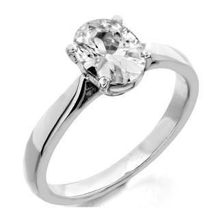 Picture of Oval center 4 prong head solitaire ring