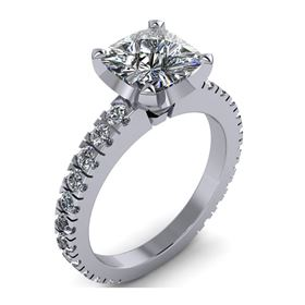 Picture of Solitaire with accents split prong set