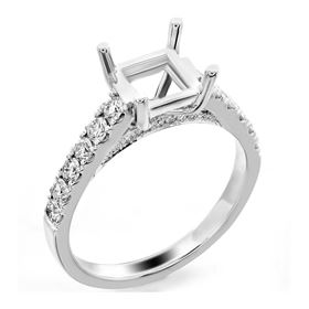 Picture of Solitaire with accents split prong princess cut