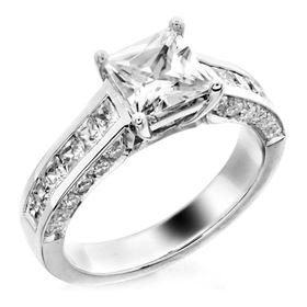 Picture of Three row solitaire channel and pave set
