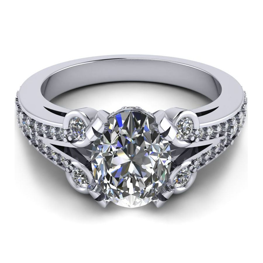 split shank oval center Fine Jewelry Manufacturer