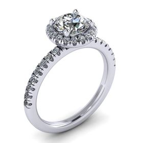 Picture of Split prong halo round outline round center