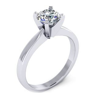 Picture of 4 prong die-struck solitaire