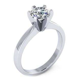 Picture of 6 prong die-struck solitaire