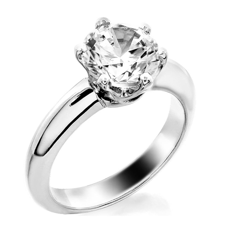 jewellery platinum round diamond ring brilliant rounded solitaire claw