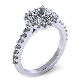 Picture of Halo ring cushion outline cushion center 1