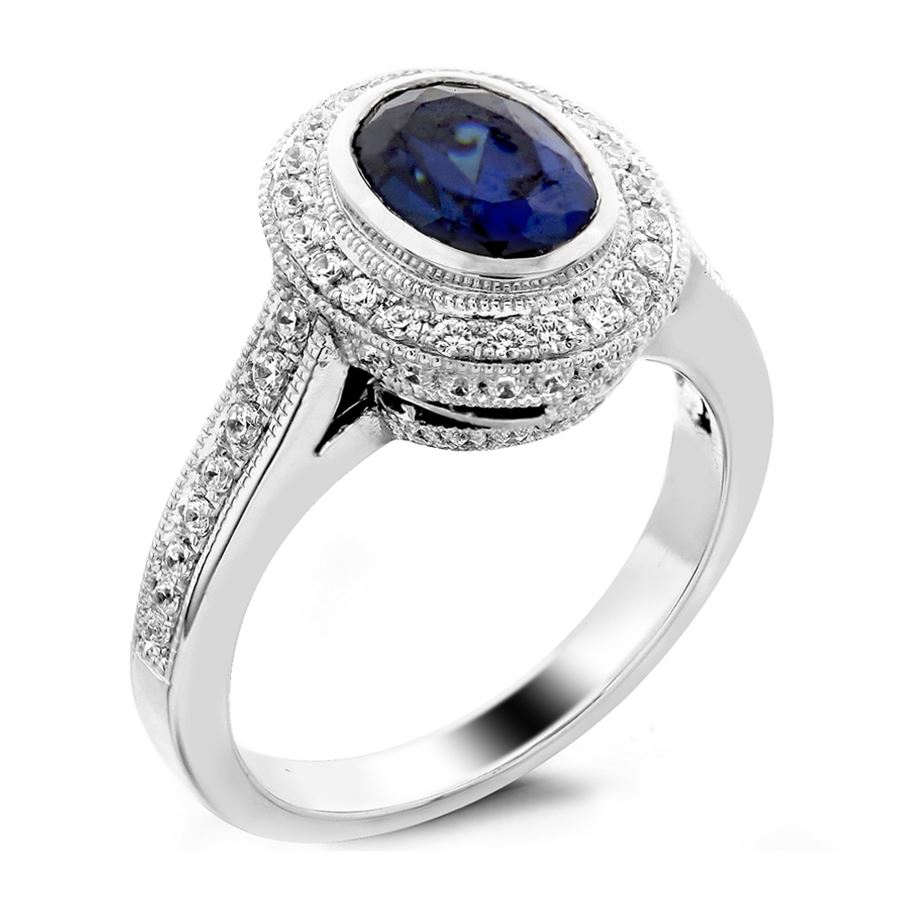 Oval outline halo oval center stone | Fine Jewelry Manufacturer ...